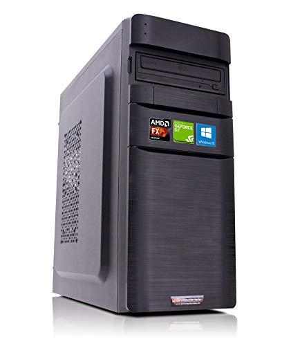 Office PC K11 AMD, FX-4300 4x3.8 GHz, 16GB DDR3, 1TB HDD, GT710 1GB, Windows 10 Büro Computer Desktop Rechner
