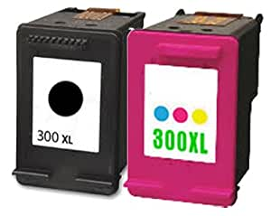 InkUnity - HP 300 XL Remanufactured Black & Colour Printer Ink Cartridge Combo Pack High capacity CC640EE & CC643EE for D5560 D5563
