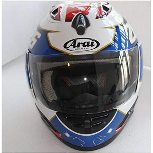 MTCTK Motorradhelm Integralhelm Arai Helm Motorrad Integralhelm Ece Blau, Capacete/Unisex, Casco De Moto,XXL