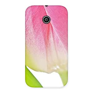 Cute Pink And White Back Case Cover for Moto E