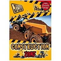 JCB Real Machines Stickers Construction Zone Red