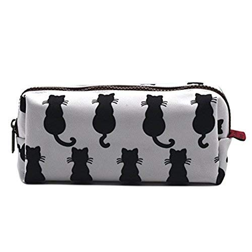 Gato negro estuche para bolsa de vuelta a la escuela profesor regalo Gadget bolsa de maquillaje caso cosmético bolsa