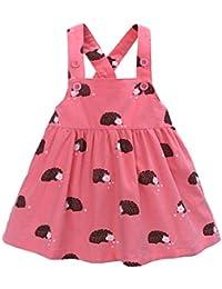 Vestido de Tirantes con Erizo Impresas para Niñas K-Youth Niños Ropa Bebe Niña Verano 1-6 años Casual Recién Nacido Vestidos de Niña Princesa Bautizo Fiesta
