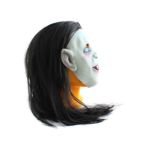 (Halloween Latex Sadako Vampir Geist Scary Maske Cosplay Party Horror Kostüm)