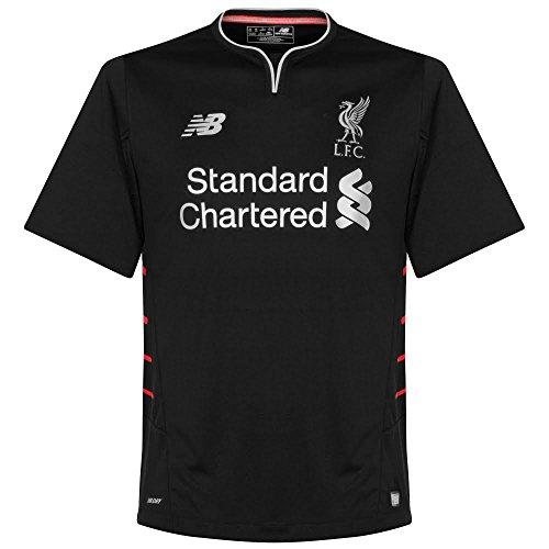 Liverpool FC 16/17 Kids Away S/S Football Shirt - Black - size XLB (Shirt Soccer V-neck-sport)