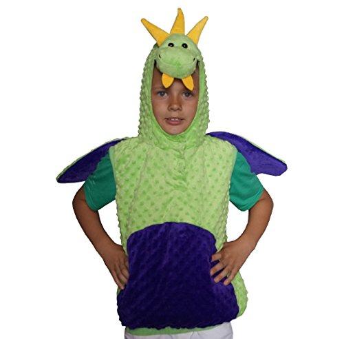 Grüne Haut Anzug Kinder Kostüm - Drache Dino Dinosaurier Karneval Kostüm Kinder