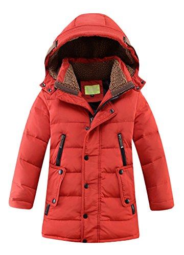 Daunenjacke für Kinder kälteschutz lange Jacke mit abnehmbar Kapuze in 150 (Abnehmbare Kapuze)