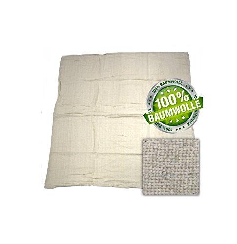 Image of Kerafactum® Passiertuch Käsetuch Sieb Tuch zur Käseherstellung und Abseihen Durchseihtuch um Brühe klären Farbe: Natur aus 100% Baumwolle