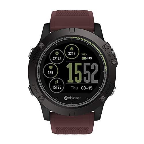 AchidistviQ Zeblaze VIBE3 HR Wasserdichte Pulsuhr Sport Smart Watch für Android iOS rot