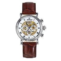 Ingersoll IN2700WH - Reloj unisex de cuarzo, correa de piel color marrón de Ingersoll