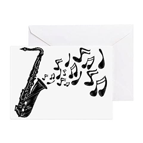 CafePress - Sax Notes - - Greeting Card (20-pack), Note