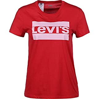 Levi's Women's The Perfect Tee T-Shirt, Rot (Sptwr Logo Brilliant Red 0621), Small
