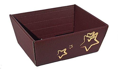 10x-cesto regalo di natale stella piccola-natale cesto, cestino, cestino in cartone ondulato