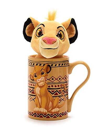 Disney Store Simba Set aus Classic Becher 470ml und Bean Bag Stofftier Mini 18cm - König der Löwen