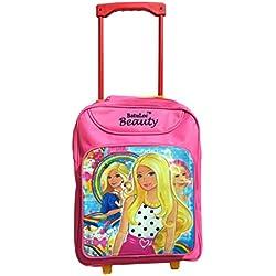 Batu Lee Princess Barbie 15 inch Pink Waterproof Trolley Hybrid Children's Backpack