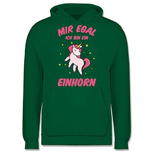 Einhörner - Mir egal ich bin ein Einhorn - Herren Hoodie Grün