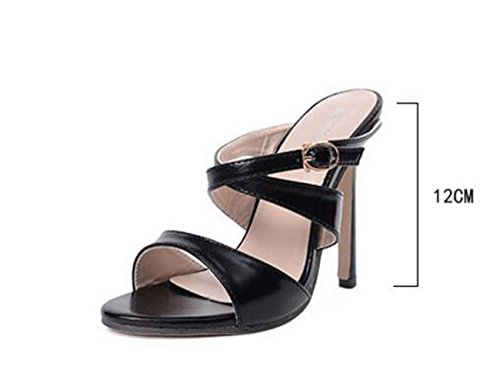 PBXP Fashion Limited Edition Charming OL Peep Toe Hausschuhe Stiletto Ferse Casual Party Comfortbale Schuhe Black