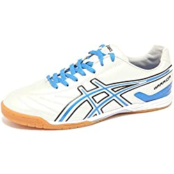 6515Q sneaker uomo ASICS WARRIOR argento/blu shoe men [45]