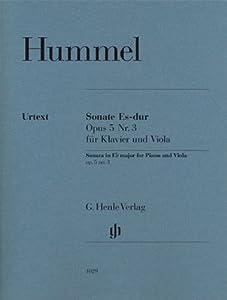 Sonate für Klavier und Viola Es-dur Opus 5 Nr. 3