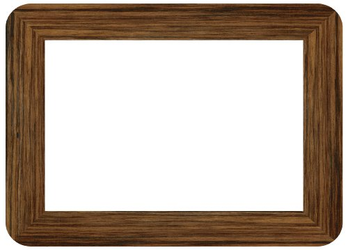 Fodeez Frames Classic 4 x 6 Inches Display Area Peel and Stick Adhesive Picture Frame/Dry Erase Board, Pack of 5, Wood Grain (RV-46-05-WOOD)