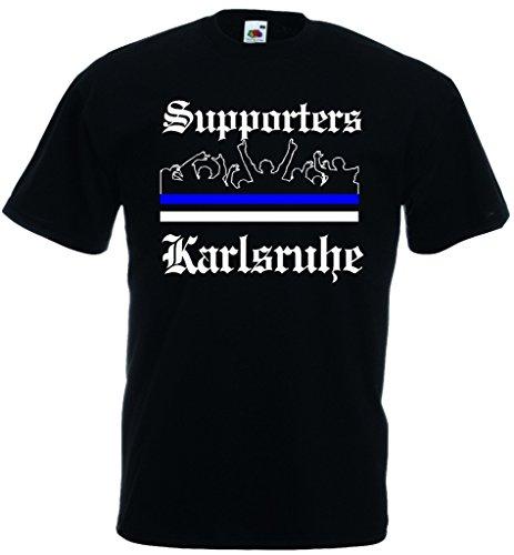 World-of-Shirt Herren T-Shirt Karlsruhe Ultras Supporters M