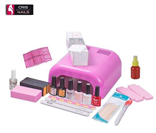 Crisnails ® KIT de esmaltado permanente, todo lo necesario para manicura y pedicura