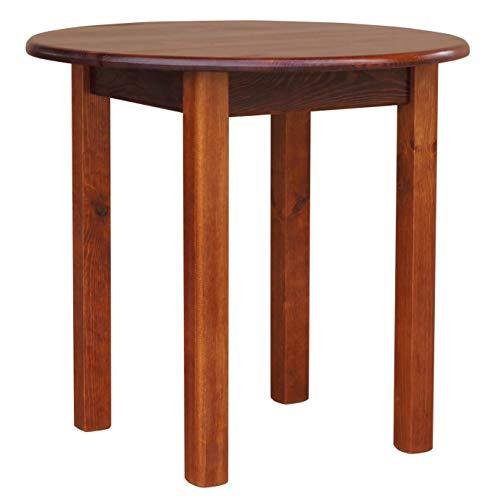 FidgetGear Runder Kiefer Tisch Esstisch Küchentisch Speisetisch massiv Restaurant NEU Farbe Größe One