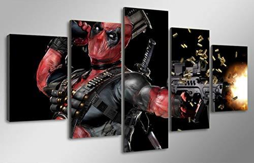 MIYCOLOR 5 Unidades Lona Impreso Deadpool Máscara
