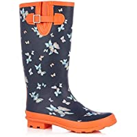 Oasis Butterfly Welly - 8 UK Black