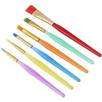 6 unids/set Pinceles de Pintura, Colorido Cepillo de Pintura de Pelo de Nylon Aceite Pincel de Acuarela Artista Kits de Pintura Profesional
