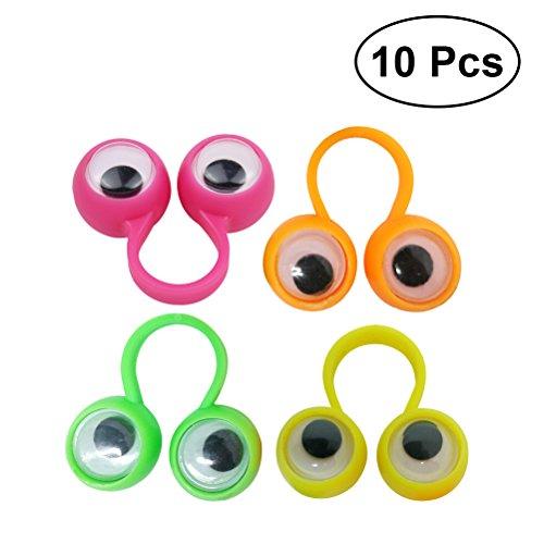 elzeug Augen Fingerring Pädagogische Intelligente Finger Spielzeug Finger Spielzeug für Kinder Kinder Geschenk 10 STÜCKE (zufällige Farbe) ()