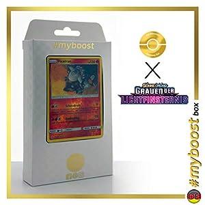 Heatran 13/131 Holo Reverse - #myboost X Sonne & Mond 6 Grauen Der Lichtfinsternis - Box de 10 Cartas Pokémon Aleman