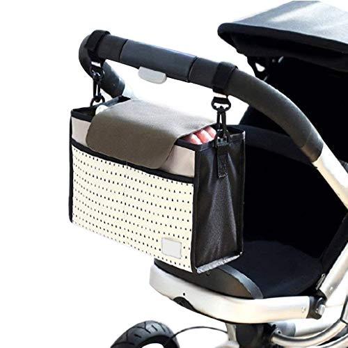 Nexlook Cochecito de bebé Bolsas Organizador Carriage Pram Carrito Mummy Infantil Frasco Bolsas Agua Blanco Bottle Pañal Bolsa