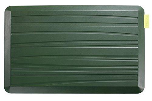 Nuva Gel Küchenmatte Anti Müdigkeit und Stehmatte für Büro, Memory Foam gepolstert, Größe 30 x 20 x 3/4 Zoll, Strand-Muster, Grasgrün von Nuva
