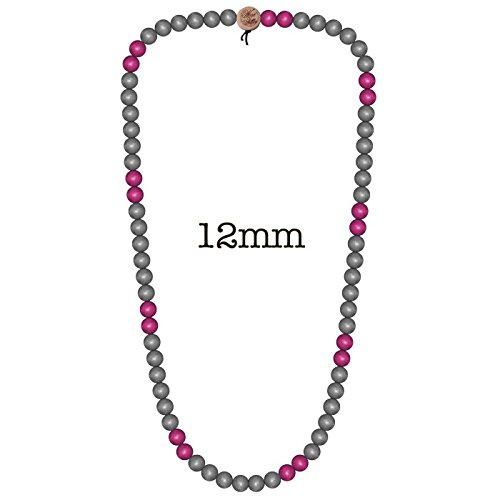 Wood-Fellas-Halskette-in-grau-rot-von-Gre-6-12mm