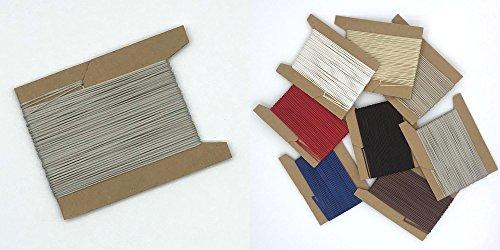 30 m Schnur für Plissees 0,8 mm - 8 Farben - Plisseeschnur - Spannschnur für Plissee - ps FASTFIX - hier hell-grau