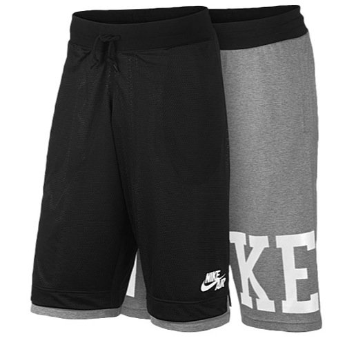 NIKE Herren Shorts Basketball Reversible Pick Up Game, Black/Dark Grey Heather/White, S, 646274-010 (Nike Shorts Reversible)