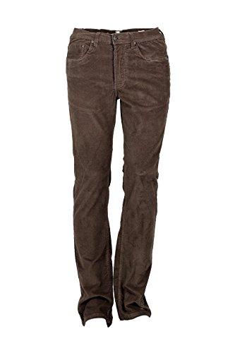Pantaloni 5 tasche velluto marrone, 48