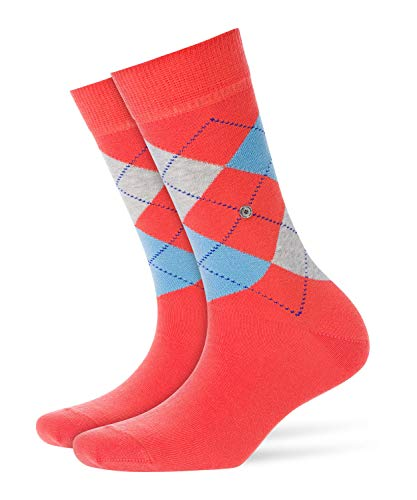 Burlington Damen Queen klassisches Argyle Muster Baumwolle 1 Paar modische Socken Blickdicht rot Red 8814, 36/41 (One Size)