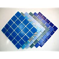 Mosaico Piastrella Miscela Migliore Miscela Blu 150 Piastrella Mix - Mix Piastrelle