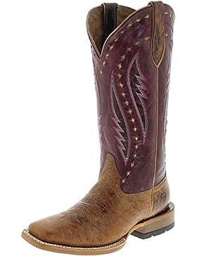 FB Fashion Boots Ariat Callahan 21663 Tan Mulberry Westernreitstiefel für Damen Braun