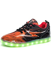 Kauson LED Light up Trainers 7 Colors Luminous Super Blinking USB  Rechargeable Breathable Outdoor Sport Running c87445cecf24