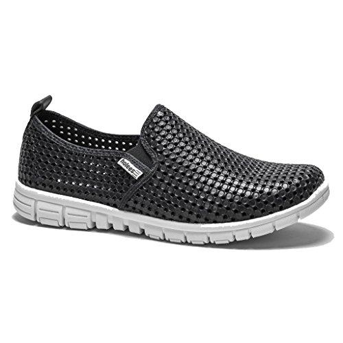 holees original et léger en mousse mémoire pour femme à enfiler Flâneur Chaussures–Différentes tailles et couleurs à choisir Noir - noir