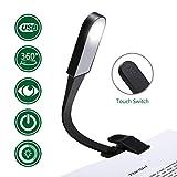 LED Leselampe, GLIME Buchlampe LED Leselicht Klemmleuchte mit 3 Farbtemperatur und Clip, USB Kable, 360° flexibel Schwanenhals Klemmlampe für eBook Reader/Nacht Lesen/Schlafzimmer/iPad