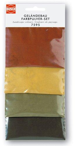 farbpulver Busch 7595 - Geländebau Farbpulver-Set