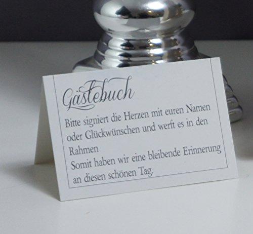 Alternatives Hochzeitsgästebuch, Herzform   Personalisierbar mit Wunschgravur - 6