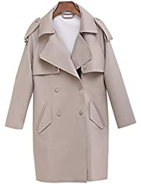 Yasong Women's Classical Long Sleeve Double Breasted Wind Coat Jacket Trench Coat