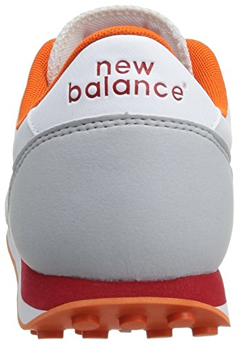New Balance - U410 D 14e, Sneaker Unisex – Adulto Bianco (Blanc (Blanc/Orange))