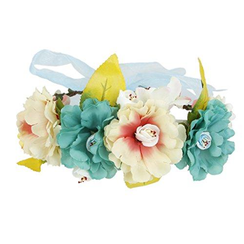 Guirlande de Fleurs Bandeau de Cheveux Boho Floral Décoration Festival Mariage