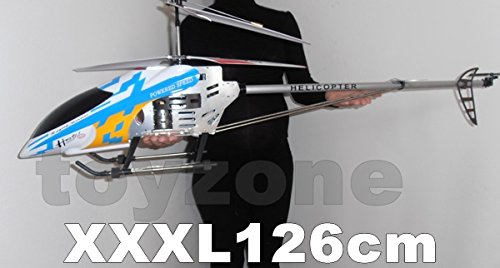 Rc Helicopter XXXL 126 cm Hubschrauber Gyro 3.5Ch Led Light Metal RTF